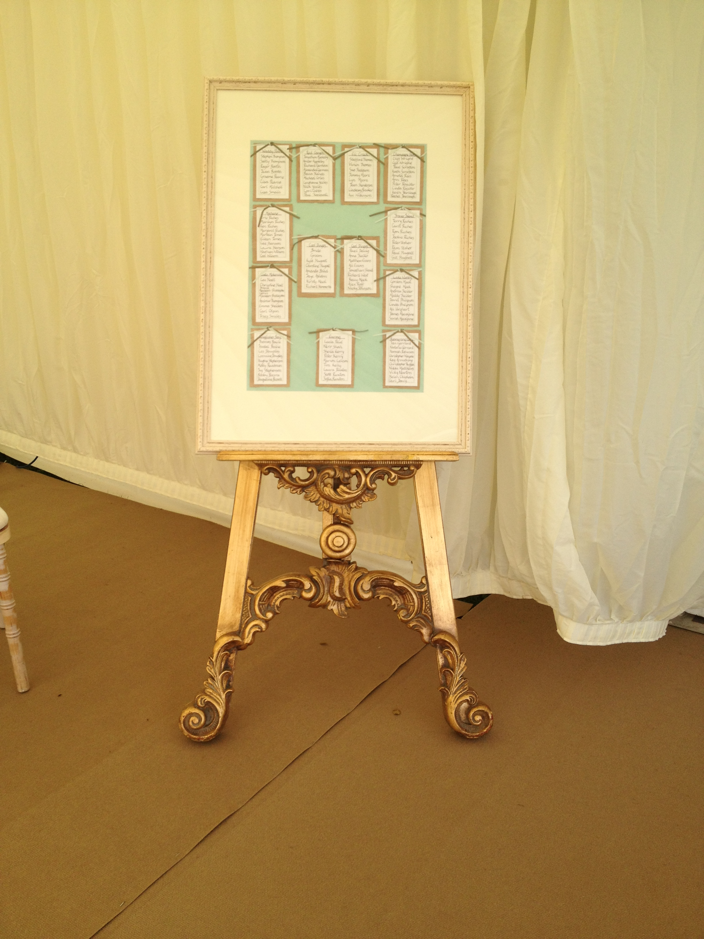 Accessories gallery marquee hire in the north east 064 2 easel wedding table plang junglespirit Choice Image