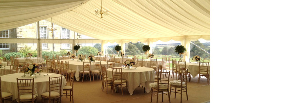 Marquee hire in newcastle northumberland alnwick morpeth for Unique wedding venues north east