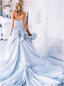 light-blue-seersucker-wedding-dress-blue-wedding-ideas
